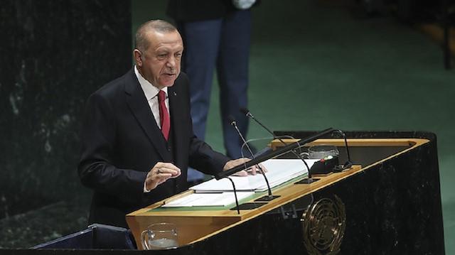 بعث الرئيس التركي رجب طيب أردوغان برسائل تنشد السلام وتتمنى الرخاء للعالم بأسره، وجدد دعوته لإصلاح مجلس الأمن.