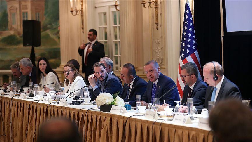 أردوغان يشارك في اجتماع لـمعهد الشرق والغرب في نيويورك