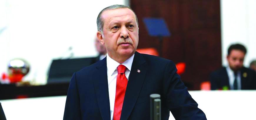 أردوغان: قوات غصن الزيتون ستواصل هجومها على امتداد الحدود التركية السورية