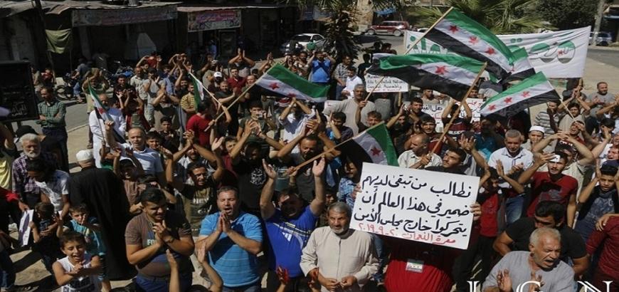 مظاهرات في الشمال السوري ضد الفيتو الروسي .. ودعوات للتحرك خارج مجلس الأمن