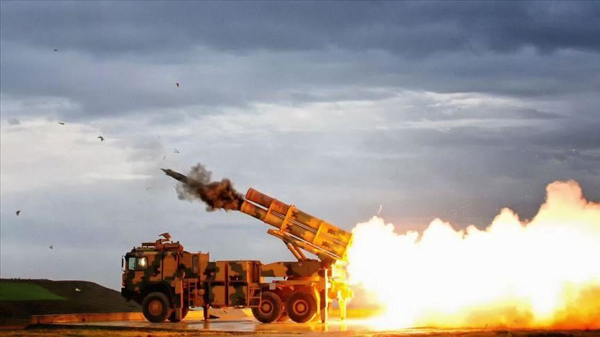 وزارة الدفاع التركية: تم ضرب مصادر إطلاق النيران وتدميرها