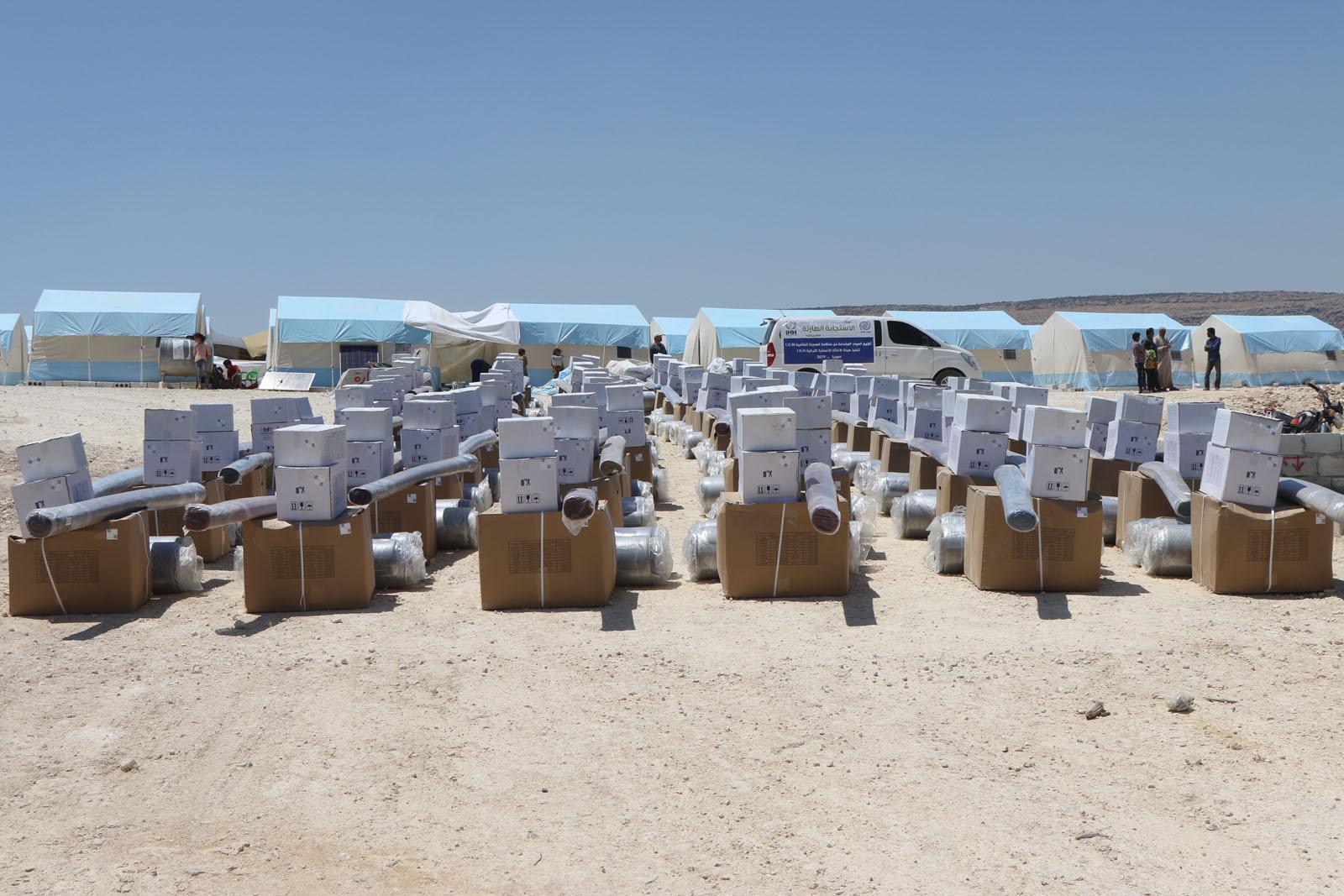 مخيم جديد مقدم من جمعية إي ها ها  والأمم المتحدة إلى إدلب