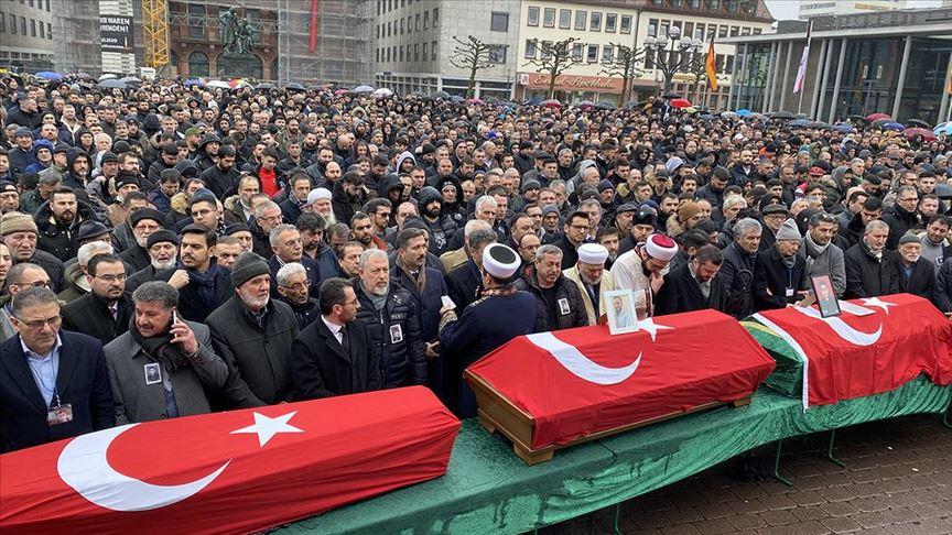 """ألمانيا.. تشييع 3 أتراك ضحايا هجوم """"هاناو"""" الإرهابي العنصري"""